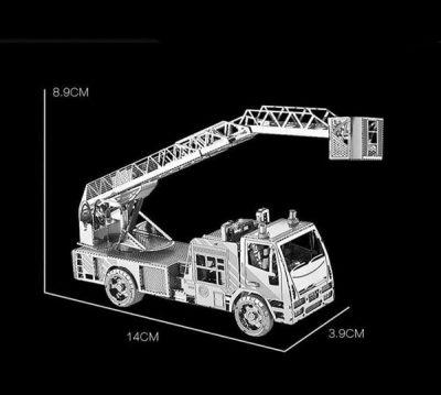 پازل فلزی سه بعدی ماشین آتش نشانی