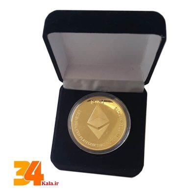 سکه روکش طلایی اتریوم ETH طرح 2