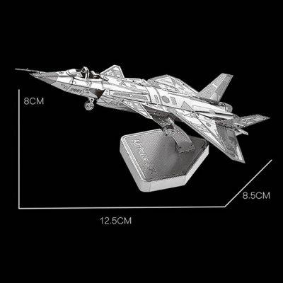 پازل فلزی سه بعدی جنگنده J-20