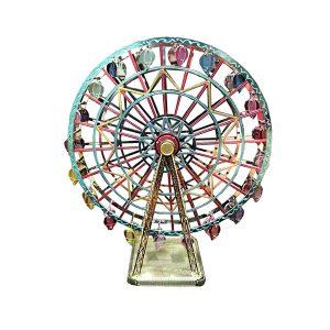پازل فلزی سه بعدی چرخ فلک رنگی